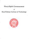 1976 Rose-Hulman Institute of Technology : Ninety-Eighth Commencement