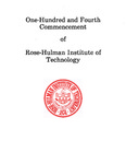 1982 Rose-Hulman Institute of Technology : One-Hundred and Fourth Commencement