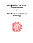 1983 Rose-Hulman Institute of Technology : One-Hundred and Fifth Commencement