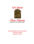 1999 Rose-Hulman Institute of Technology : One-Hundred and Twenty-First Commencement by Rose-Hulman