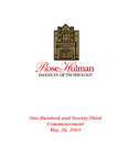 2001 Rose-Hulman Institute of Technology : One-Hundred and Twenty-Third Commencement by Rose-Hulman