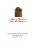 2002 Rose-Hulman Institute of Technology : One-Hundred and Twenty-Fourth Commencement by Rose-Hulman