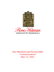 2003 Rose-Hulman Institute of Technology : One-Hundred and Twenty-Fifth Commencement