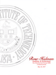 2007 Rose-Hulman Institute of Technology : One-Hundred and Twenty-Ninth Commencement by Rose-Hulman