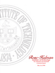 2008 Rose-Hulman Institute of Technology : One-Hundred and Thirtieth Commencement