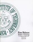 2012 Rose-Hulman Institute of Technology : One-Hundred and Thirty-Fourth Commencement by Rose-Hulman