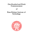 1987 Rose-Hulman Institute of Technology : One-Hundred and Ninth Commencement