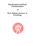 1988 Rose-Hulman Institute of Technology : One-Hundred and Tenth Commencement