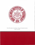 2021 Rose-Hulman Institute of Technology : ONE HUNDRED AND FORTY-THIRD COMMENCEMENT MAY 29, 2021