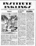 Volume 6, Issue 1 - September 24, 1970 by Institute Inklings Staff
