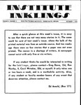 Volume 6, Issue 2 - October 1, 1970 by Institute Inklings Staff