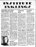 Volume 6, Issue 16 - February 25, 1971 by Institute Inklings Staff